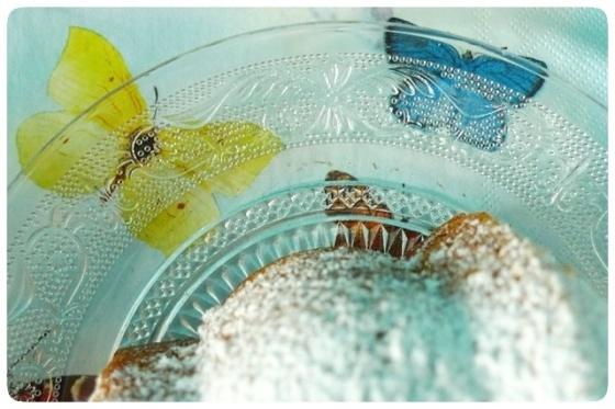 Bundt cake de limón con arándanos